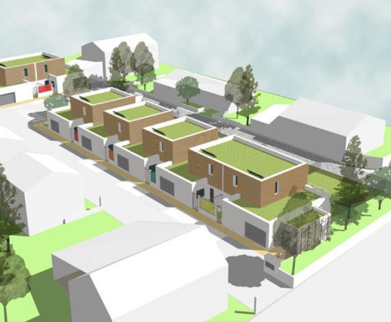 Construction de 8 maisons BBC Effinergie